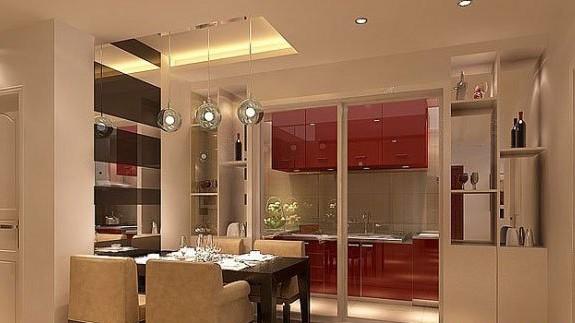 簡約一室裝修小廚房效果圖