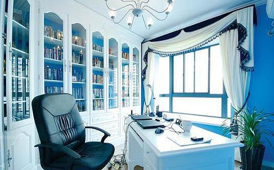 地中海风格三室书房装修效果图
