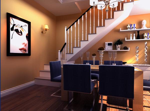 最新韩式别墅餐厅装修效果图