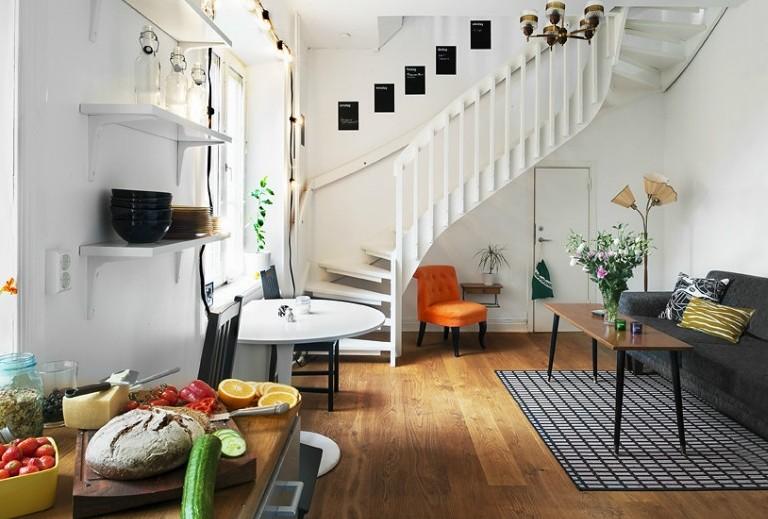 复式楼装修效果图人气 49评论 0条 50平米小复式客厅装修