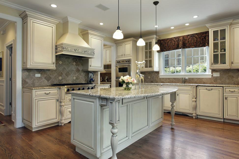 欧式风格白色系厨房装修图