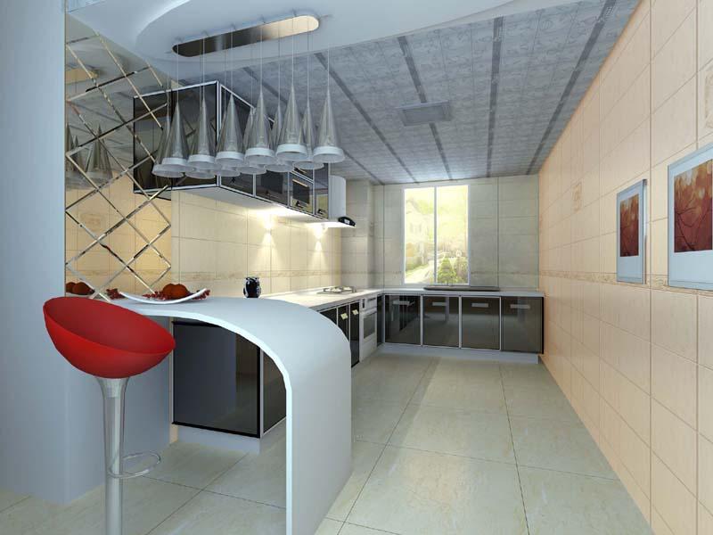 日式厨房吧台设计图 装修效果图