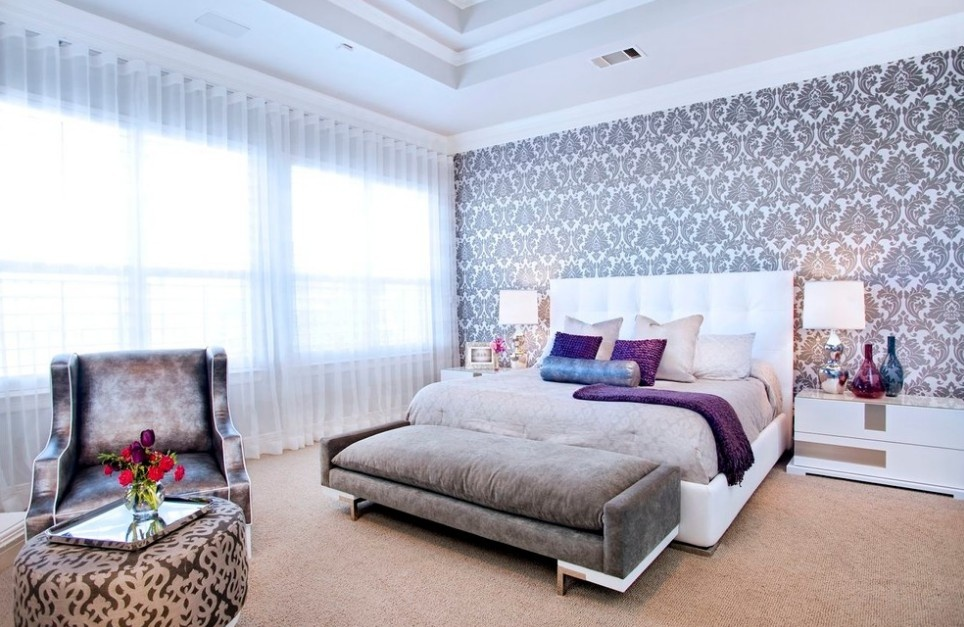 欧式卧室窗帘装修图