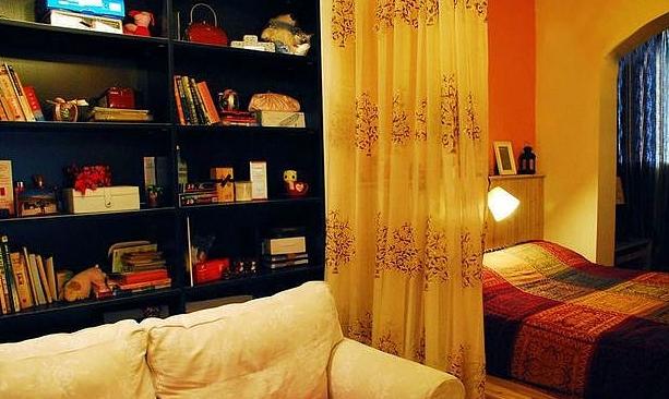 客厅卧室隔断图,小户型卧室隔断效果图,客厅卧室隔断墙效果图