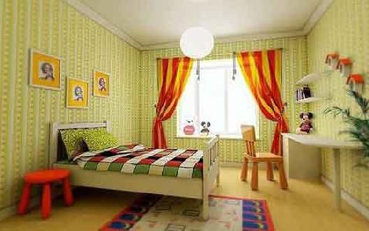 新中式儿童房装修图_装修效果图