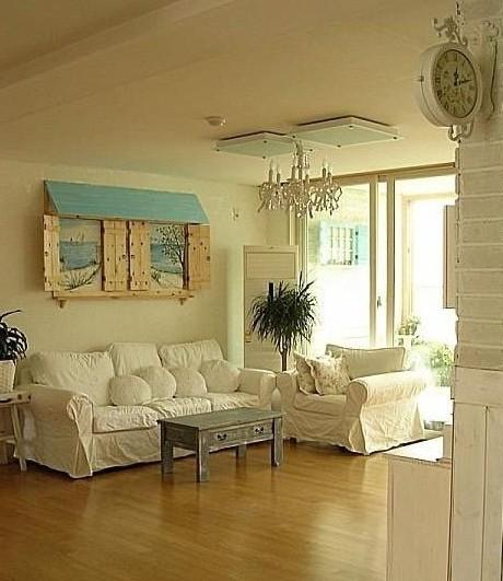 田园风格两室客厅装修设计图