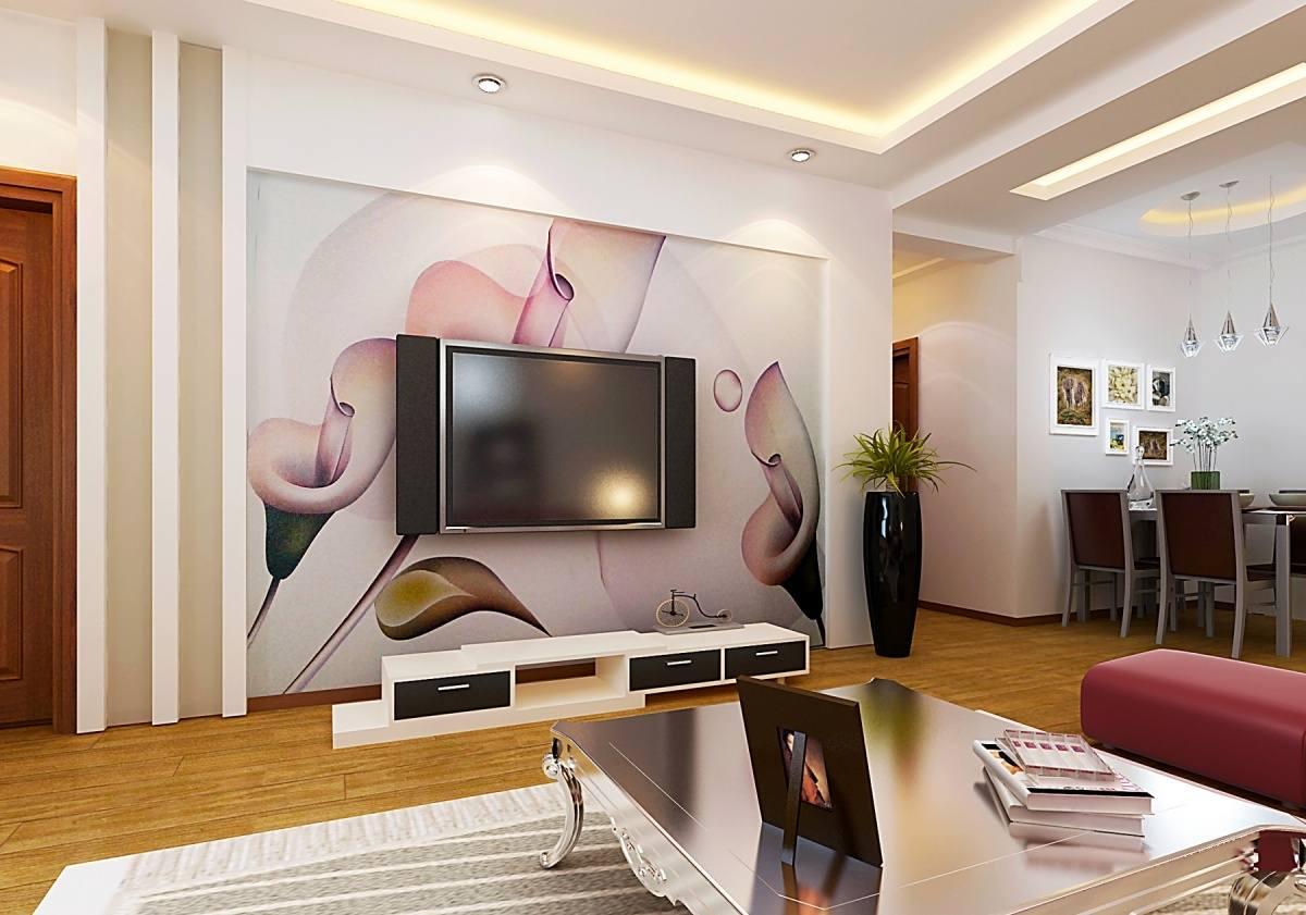 韓式客廳電視墻裝修效果圖