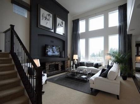 现代风格复式楼客厅装修效果图