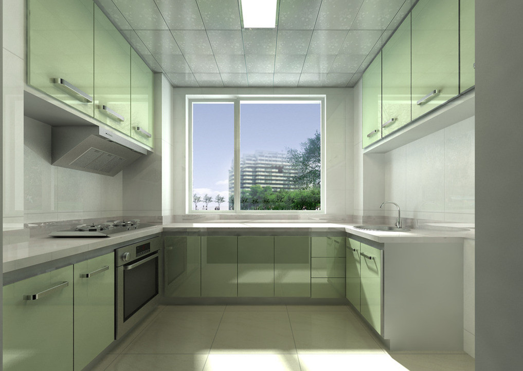 小厨房装修效果图_装修效果图_好工长网装修效果图图片
