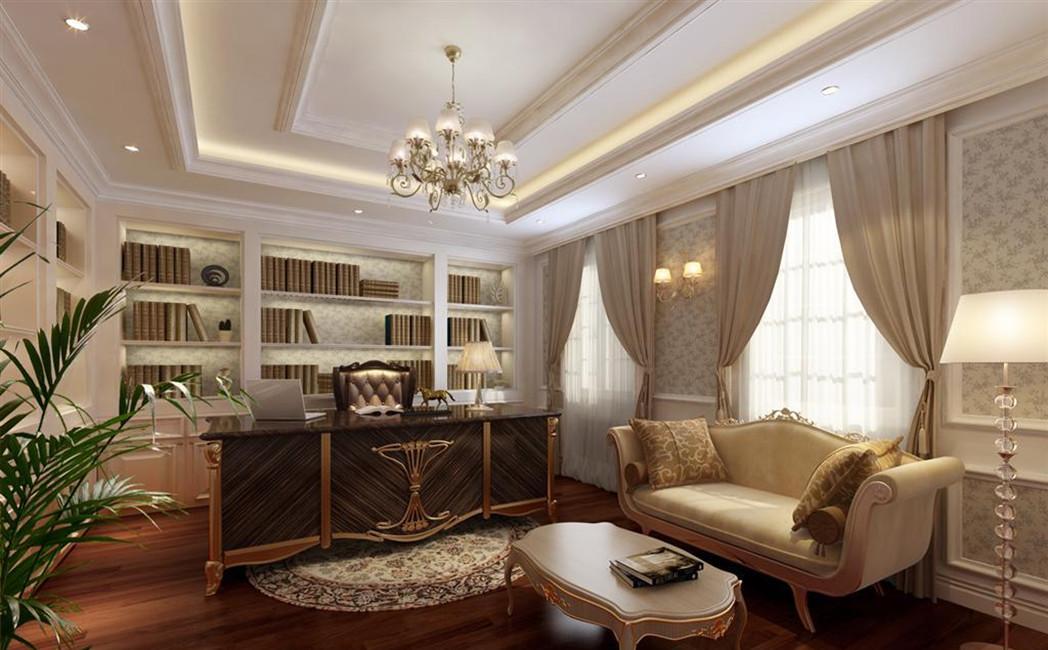 美式别墅书房装修效果图图片