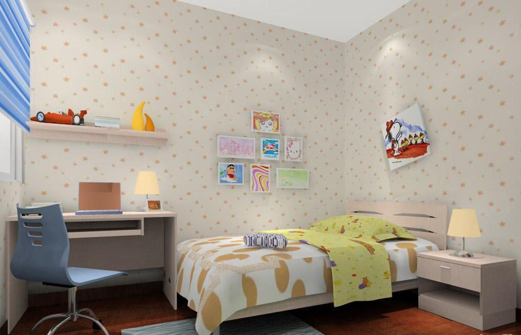 现代温馨小儿童房装修效果图
