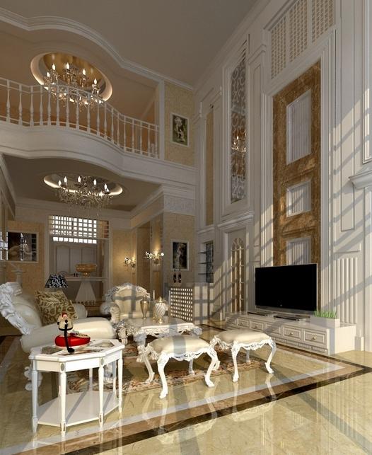 豪华别墅客厅装修效果图