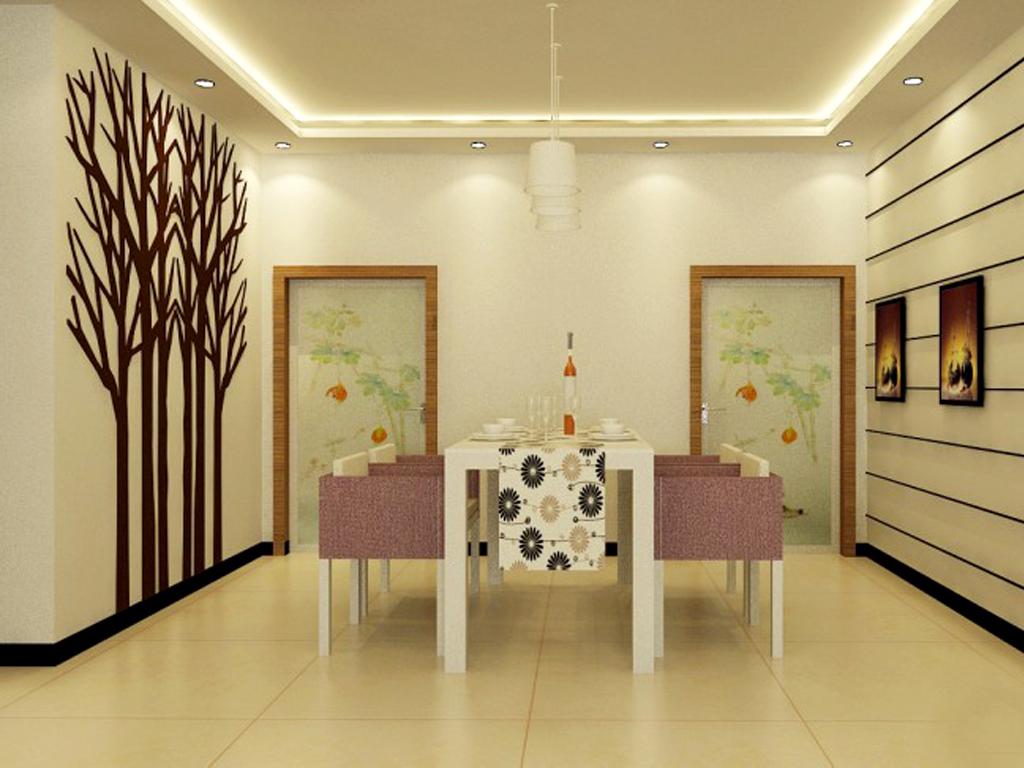 简约风格餐厅创意墙面设计效果图