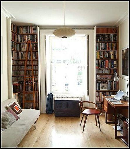 现代风格书房大书架设计效果图