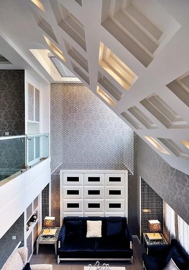簡約復式樓客廳裝修效果圖