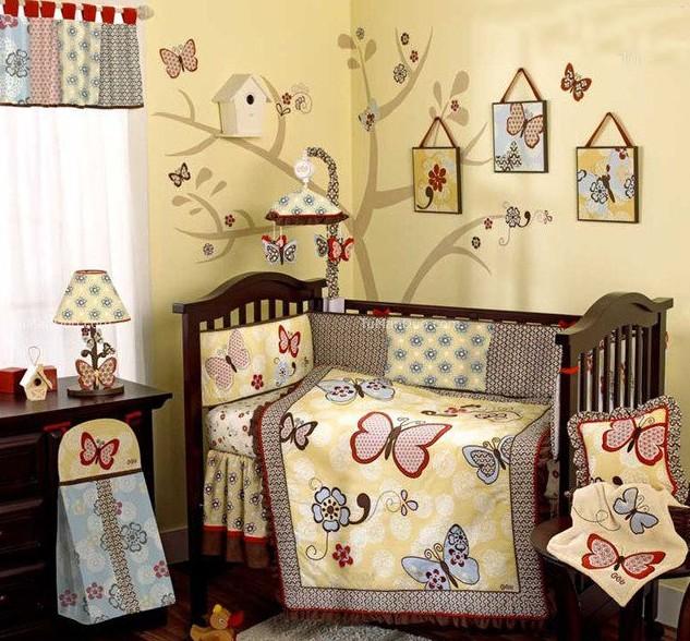 现代儿童房手绘墙面设计效果图