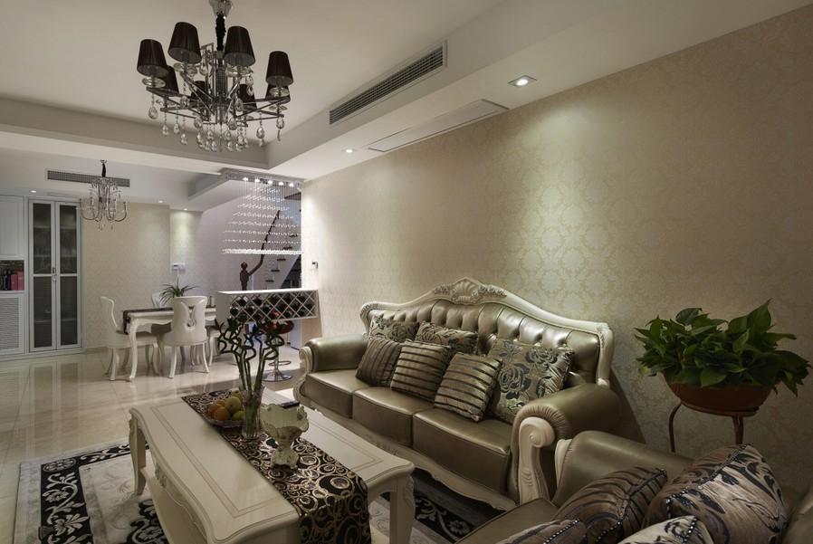 豪华欧式复式楼客厅装修效果图