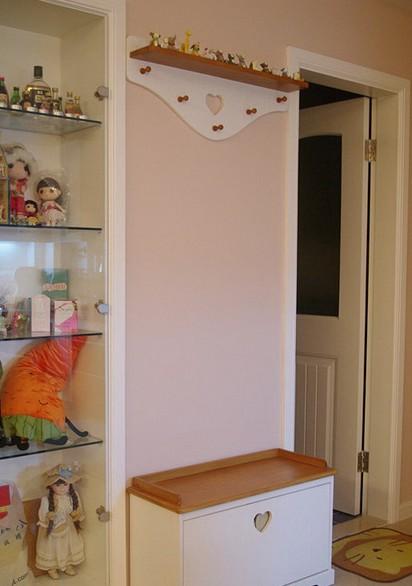 玄關掛衣墻帶鞋柜效果圖圖片