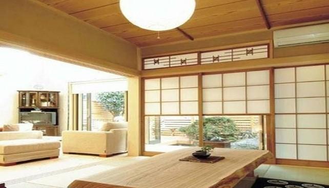日式客厅兼餐厅装修图片