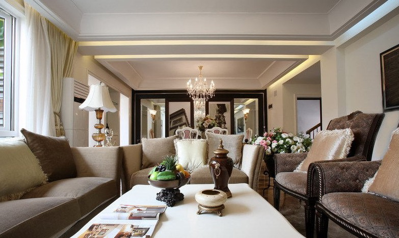2014欧式风格客厅装修效果图