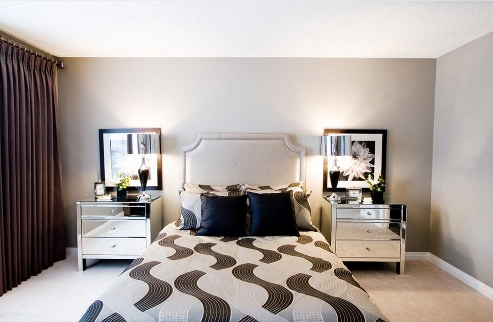 现代大户型装修卧室设计效果图