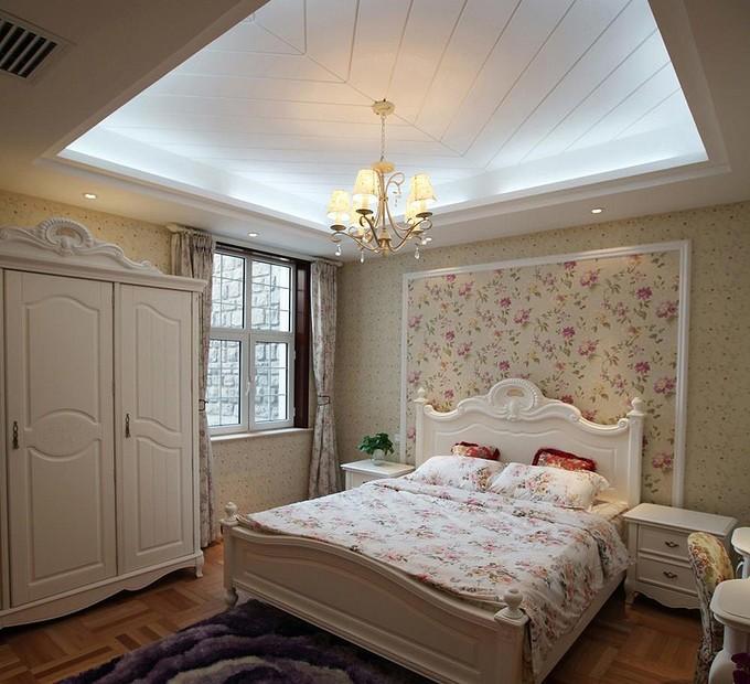 欧式大户型装修卧室吊顶效果图