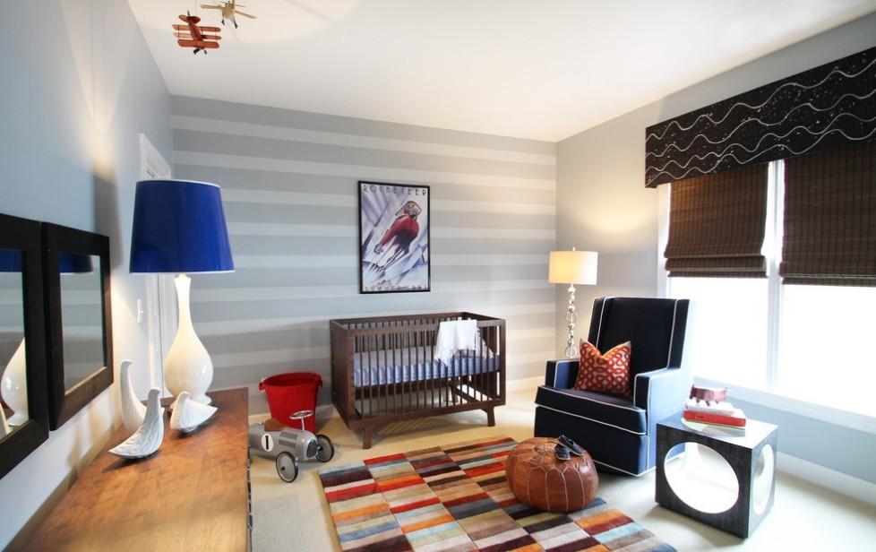 简约明亮三居儿童房装修图片 简约石膏板客厅电视背景墙效