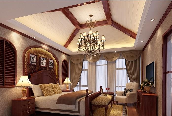 欧式别墅主卧室装修设计效果图