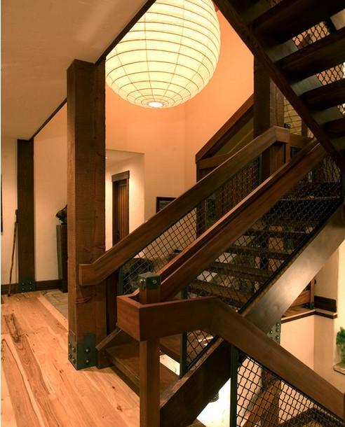 木楼梯扶手图片