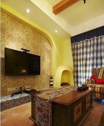 小别墅客厅电视墙家装布置效果图