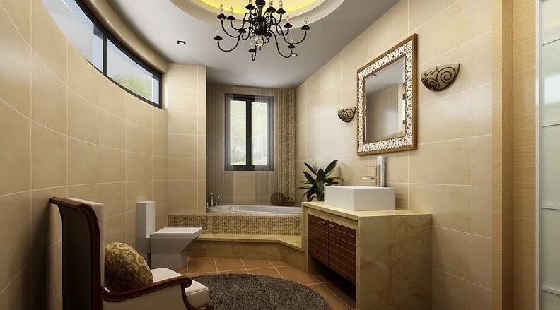 95.7平米新中式风格老屋翻新卫浴装修效图片