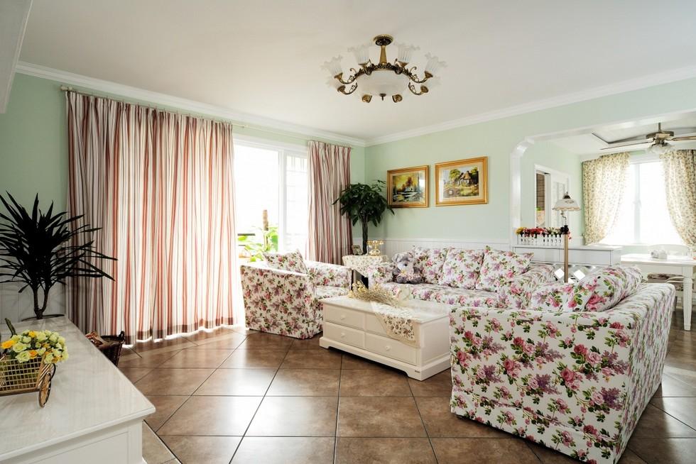 三居室客厅设计装修效果图2014