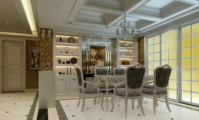 欧式风格小户型装修餐厅效果图