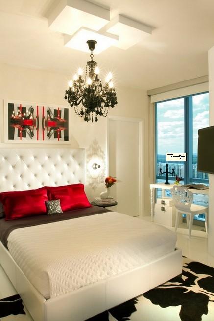 卧室豪华吊顶灯欧式风格家装效果图