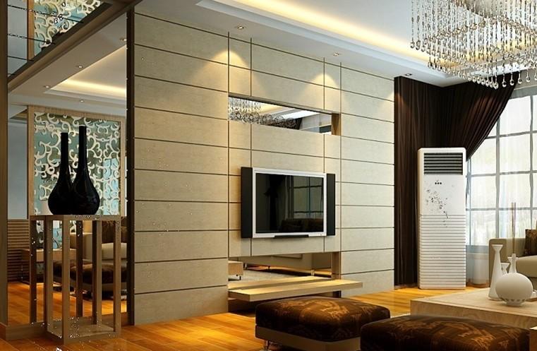 客厅电视墙瓷砖欧式风格家装效果图
