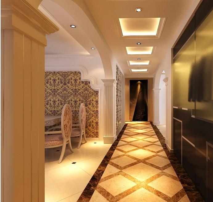 大户型玄关走廊吊顶欧式风格家装效果图