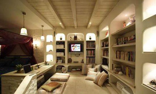 三居室日式风格书房装修效果图