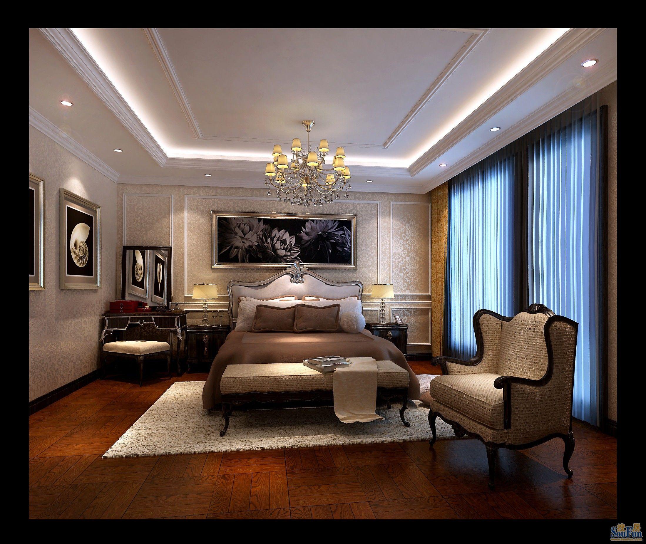 跃层欧式风格卧室装修效果图