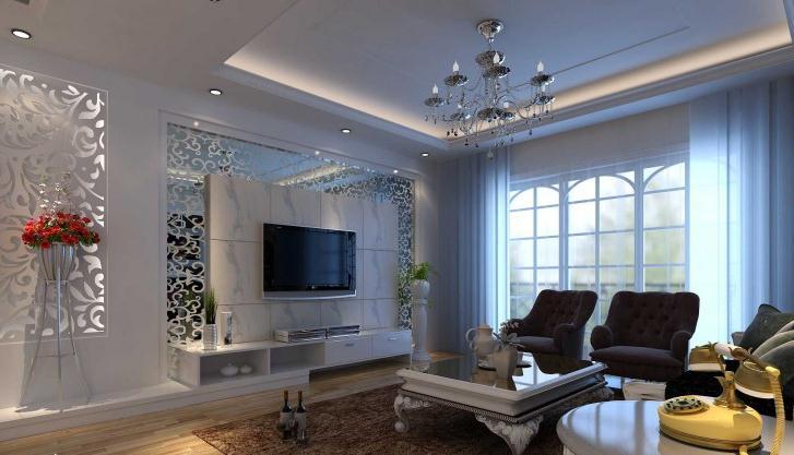 公寓欧式大气客厅装修效果图