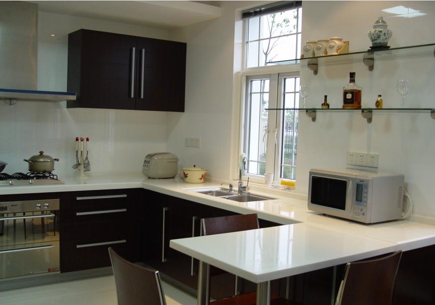 新中式家装厨房吊顶装修效果图