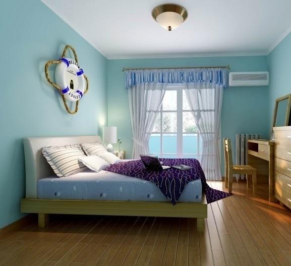 地中海风格70平米两室卧室装修效果图