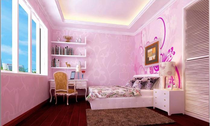 大户型女孩欧式儿童房装修效果图