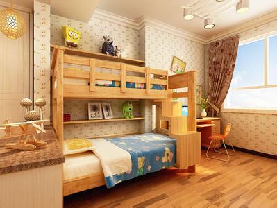小户型清新简约欧式儿童房装修效果图