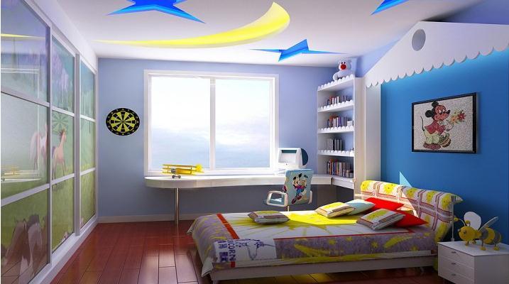 三居动漫风格欧式儿童房装修效果图