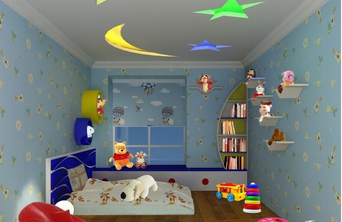 二居可爱梦幻欧式风格儿童房装修效果图