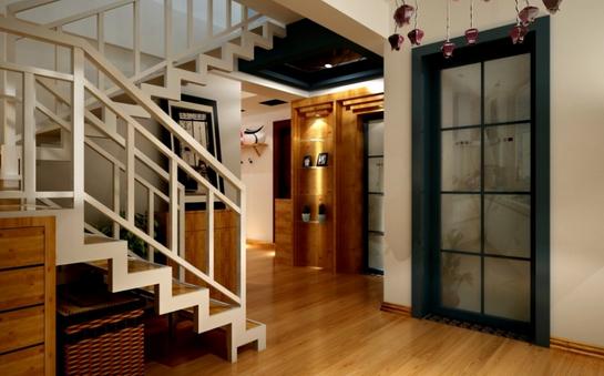 复式入户玄关楼梯装修设计效果图