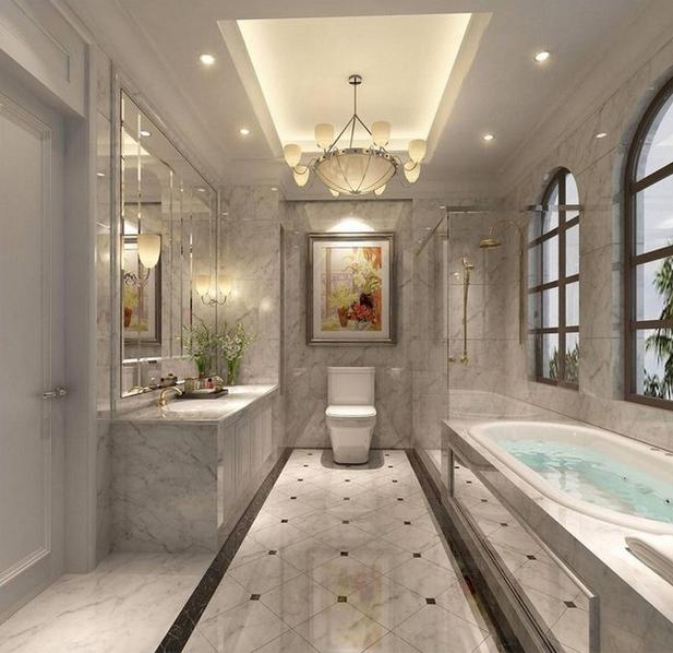 别墅欧式风格卫生间装饰效果图