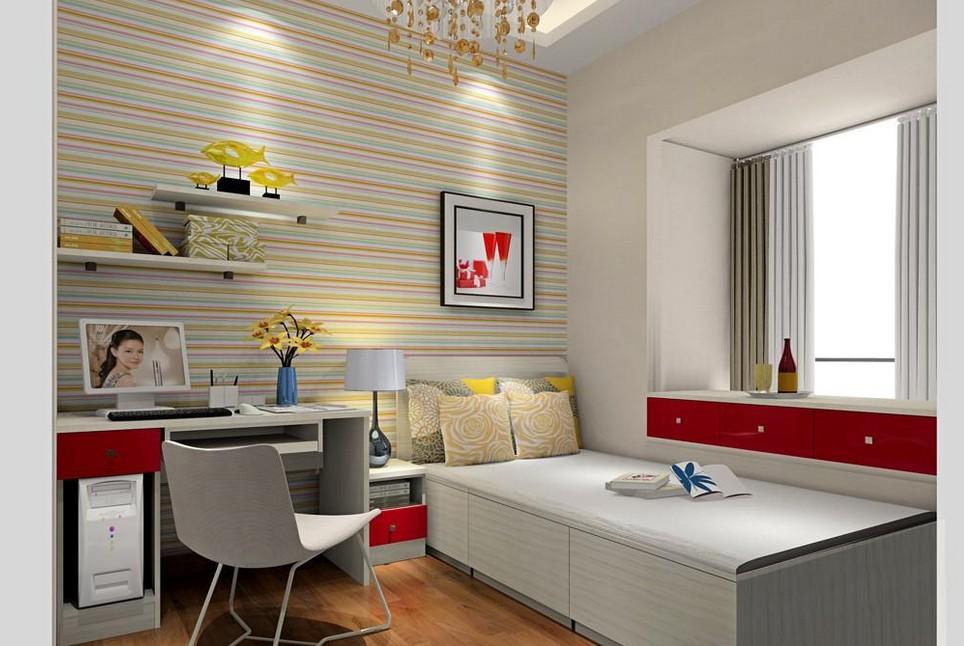 小戶型臥室飄窗裝修設計效果圖 2014最具情趣的臥室飄窗設