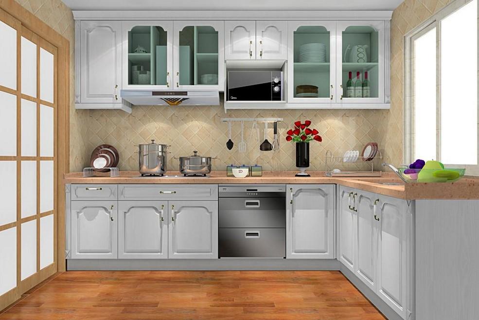 欧式厨房设计图_装修效果图