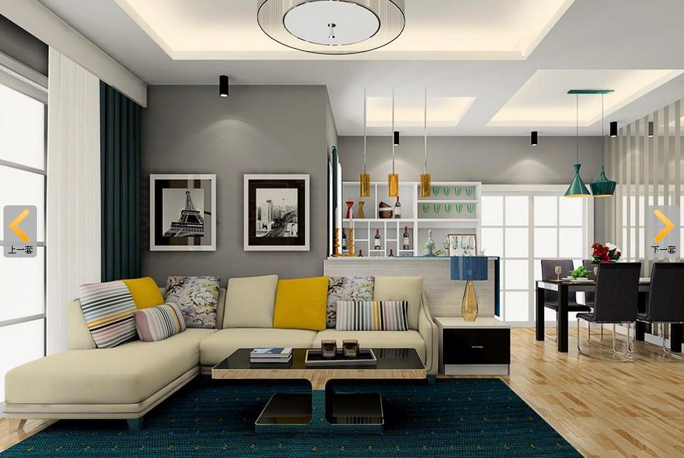 客厅软装效果图 最新沙发背景墙装修大图2